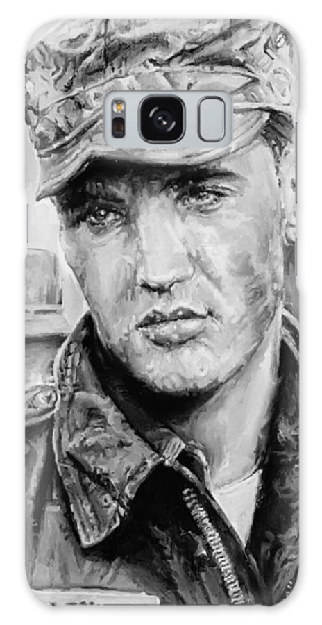 Oil On Canvas Galaxy S8 Case featuring the painting Elvis Presley by Alex Krasky