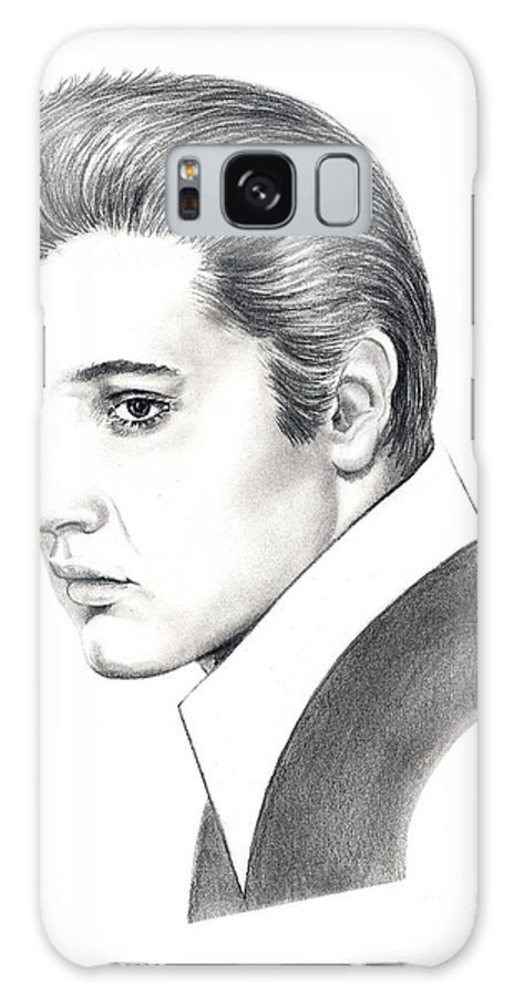 Pencil. Portrait Galaxy S8 Case featuring the drawing Elvis Presley by Murphy Elliott