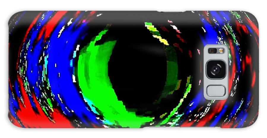 Abstract Galaxy S8 Case featuring the digital art Emerald Eye by Will Borden
