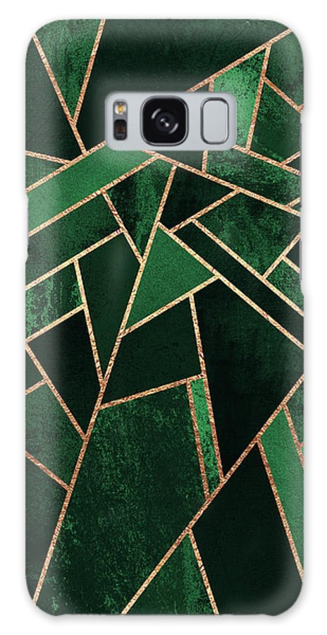 Graphic Galaxy Case featuring the digital art Emerald Night by Elisabeth Fredriksson