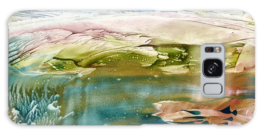 River Galaxy Case featuring the painting Emerald Water by Eileen Fong