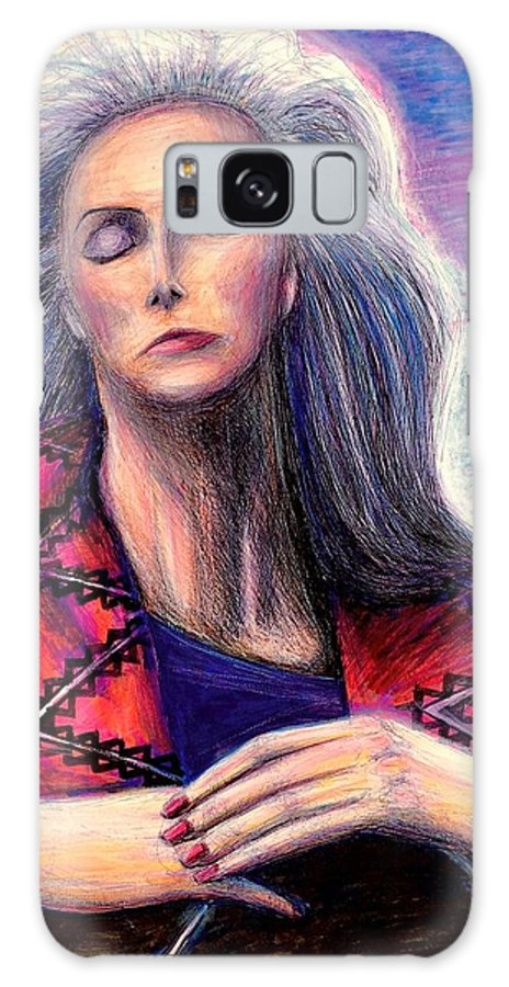 Galaxy S8 Case featuring the mixed media Emmylou Harris by David Weinholtz