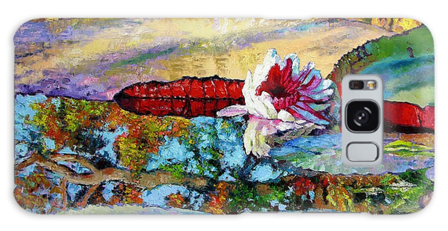 Garden Pond Galaxy S8 Case featuring the painting Emotions Of Color Light And Texture by John Lautermilch