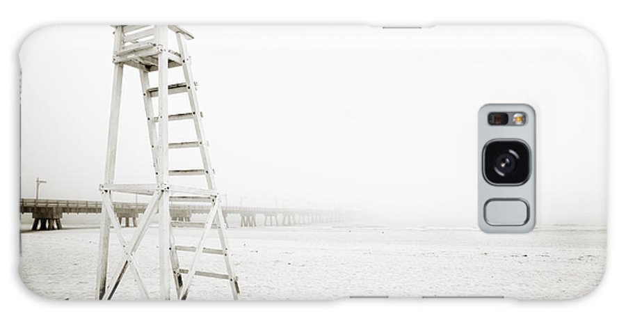 Beach Galaxy S8 Case featuring the photograph Empty Life Guard Tower 1 by Skip Nall
