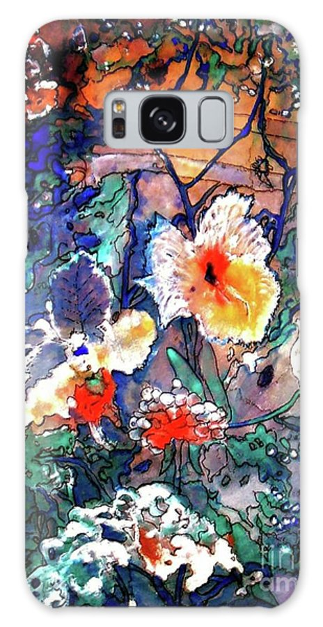 Landscape Galaxy Case featuring the painting Enchanted Garden by Norma Boeckler