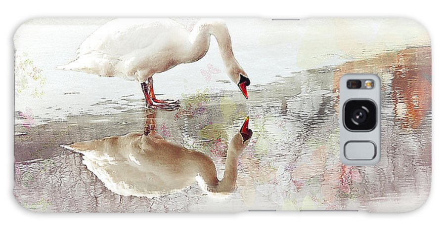 Swan Galaxy S8 Case featuring the photograph Enchantment by Elaine Manley