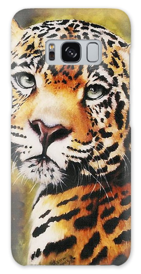 Jaguar Galaxy S8 Case featuring the pastel Enchantress by Barbara Keith