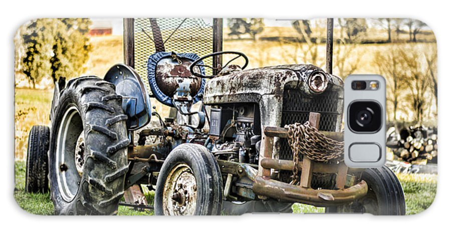 Tractor Galaxy S8 Case featuring the photograph End Of A Days Work by Heather Applegate