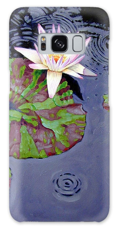 Water Lily Galaxy S8 Case featuring the painting End Of Shower by John Lautermilch