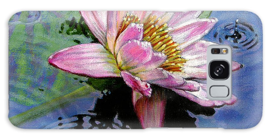 Water Lily Galaxy S8 Case featuring the painting End Of Summer Shower by John Lautermilch