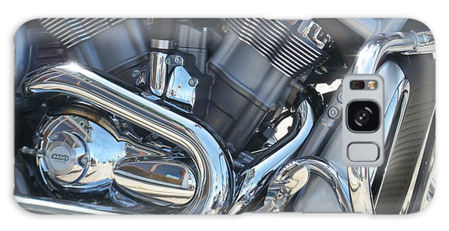 Motorcycle Galaxy Case featuring the photograph Engine Close-up 1 by Anita Burgermeister
