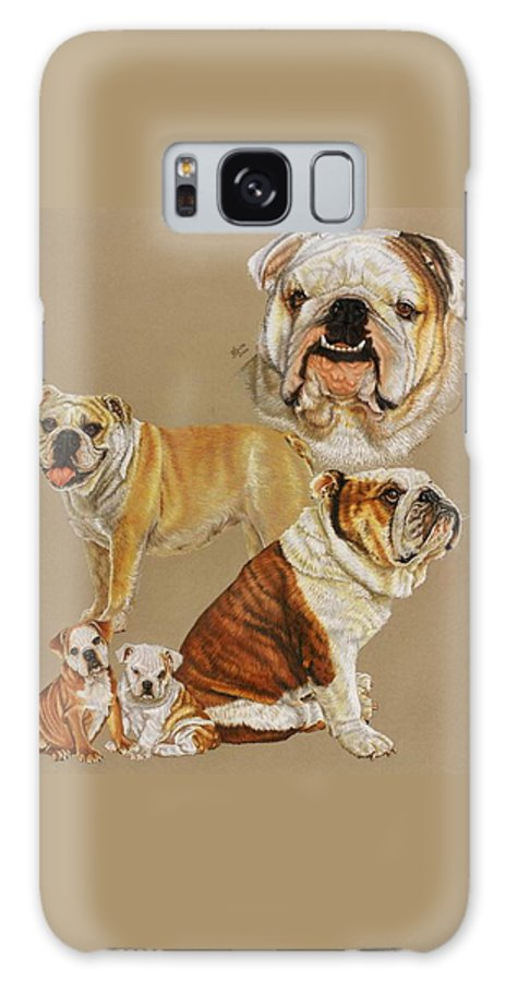 Purebred Galaxy S8 Case featuring the drawing English Bulldog by Barbara Keith