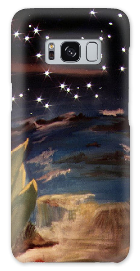 Surreal Galaxy Case featuring the painting Enter My Dream by Steve Karol
