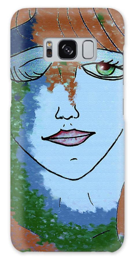 Woman Galaxy S8 Case featuring the digital art Envy by Donna Blackhall