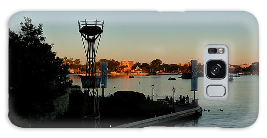 Epcot Galaxy S8 Case featuring the photograph Epcot At Dusk by Nora Martinez