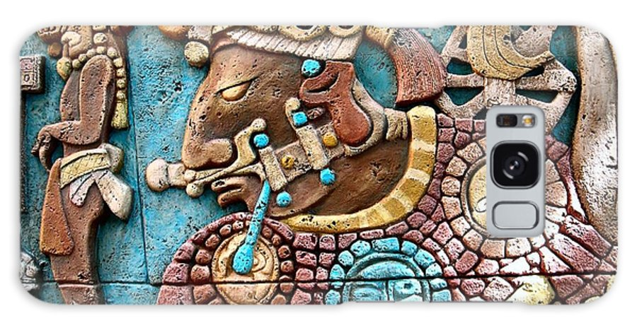 Aztec Galaxy S8 Case featuring the photograph Epcot Mayan Warrior by Nora Martinez