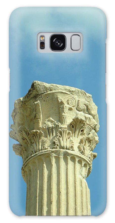 Column Galaxy S8 Case featuring the photograph Ephesian Column by Jennifer Kelly