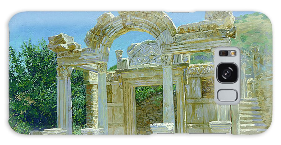 Ephesus Galaxy S8 Case featuring the painting Ephesus.ruins by Simon Kozhin