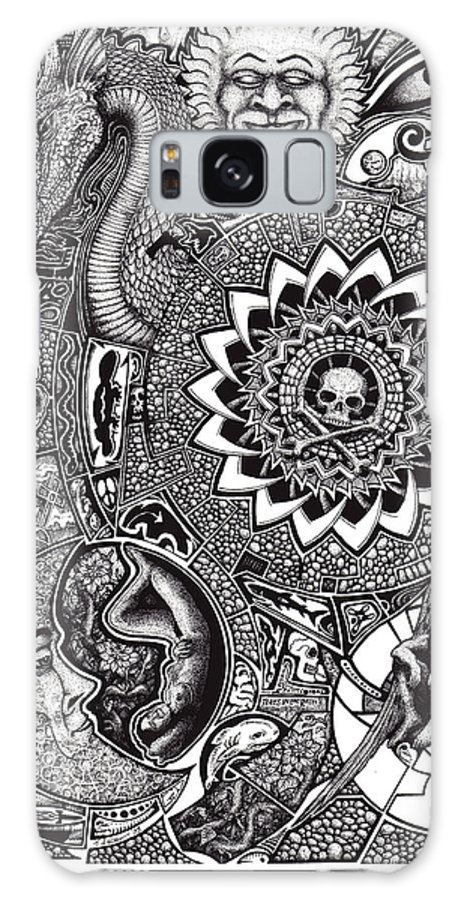 Black And White Galaxy S8 Case featuring the drawing Epiphany by Tobey Anderson