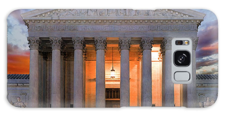 Supreme Court Galaxy S8 Case featuring the photograph Equal Justice Under Law by Daniel Hagerman