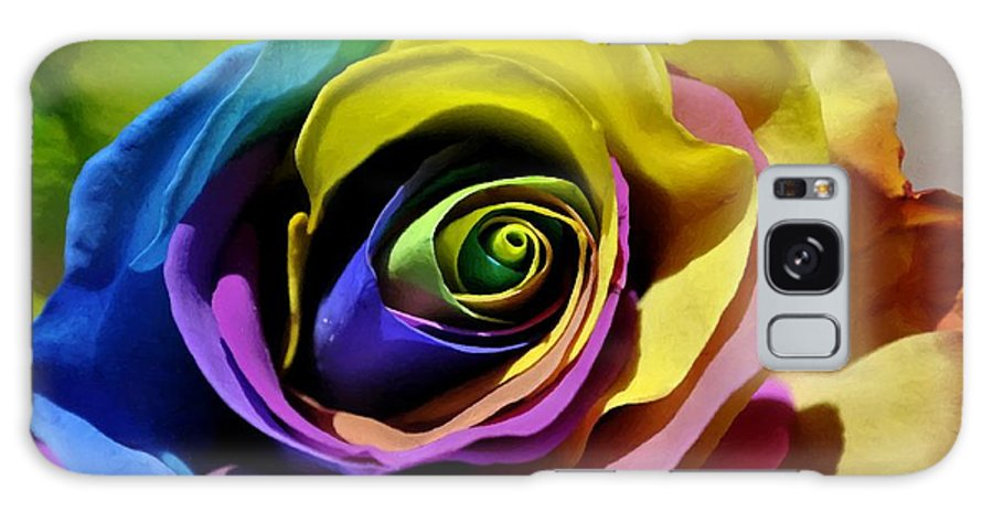 Rose Galaxy S8 Case featuring the digital art Equality Rose by Jim Brage