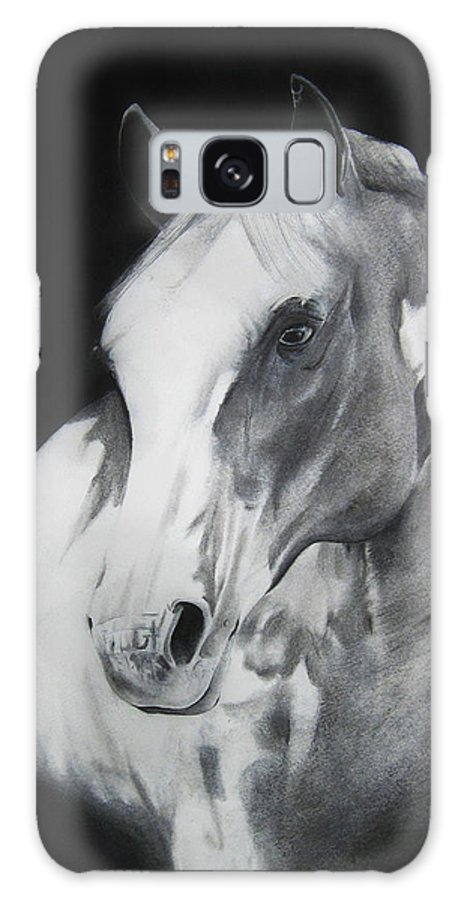 Horse Galaxy S8 Case featuring the drawing Equestrian Beauty by Carrie Jackson