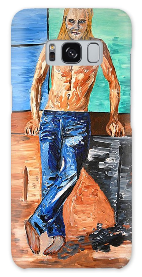 Eric Galaxy S8 Case featuring the painting Eric Northman by Valerie Ornstein