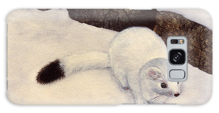 Wildlife Galaxy S8 Case featuring the painting Ermine In Winter by Frank Wilson