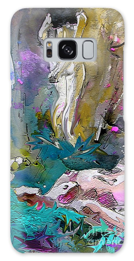Miki Galaxy S8 Case featuring the painting Eroscape 1104 by Miki De Goodaboom