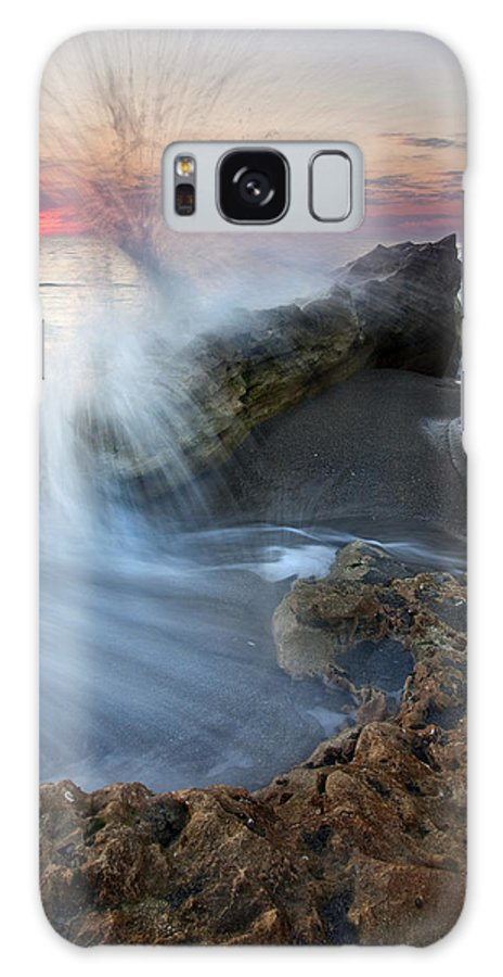 Blowing Rocks Galaxy Case featuring the photograph Eruption At Dawn by Mike Dawson