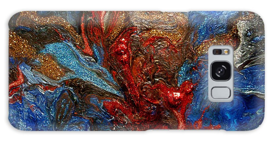 Abstract Galaxy S8 Case featuring the painting Eruption In The Deep by Patrick Mock