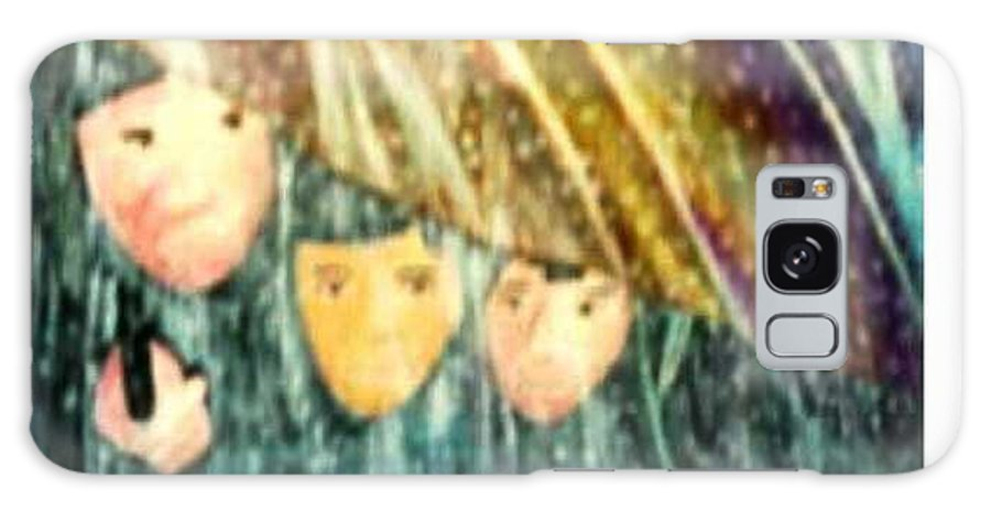 Portrait Galaxy S8 Case featuring the painting Escape From The Rain by Brenda L Spencer
