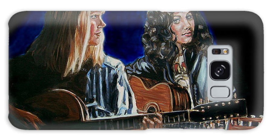 Katie Melua Galaxy Case featuring the painting Eva Cassidy And Katie Melua by Bryan Bustard