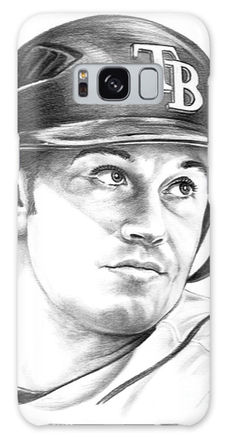 Pencil Galaxy S8 Case featuring the drawing Evan Longoria by Murphy Elliott
