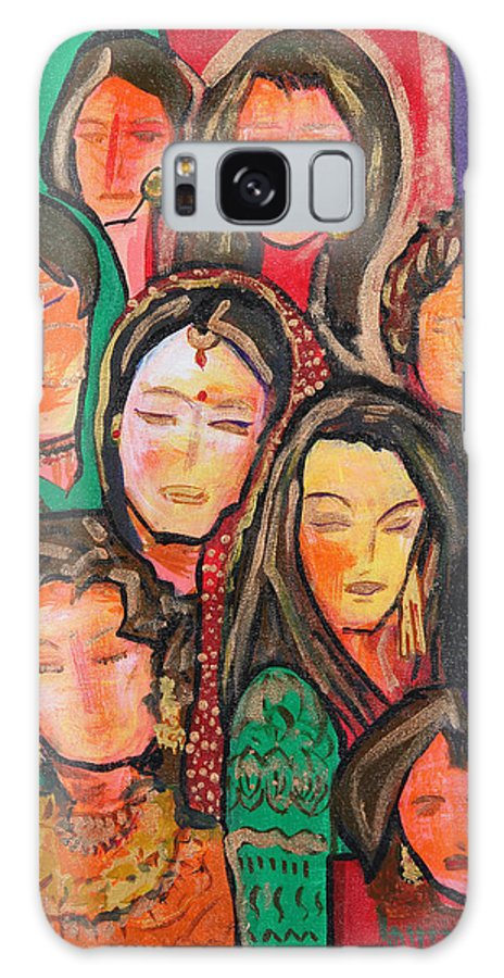 India Galaxy S8 Case featuring the painting Eve-innings by Varsha Kukreti