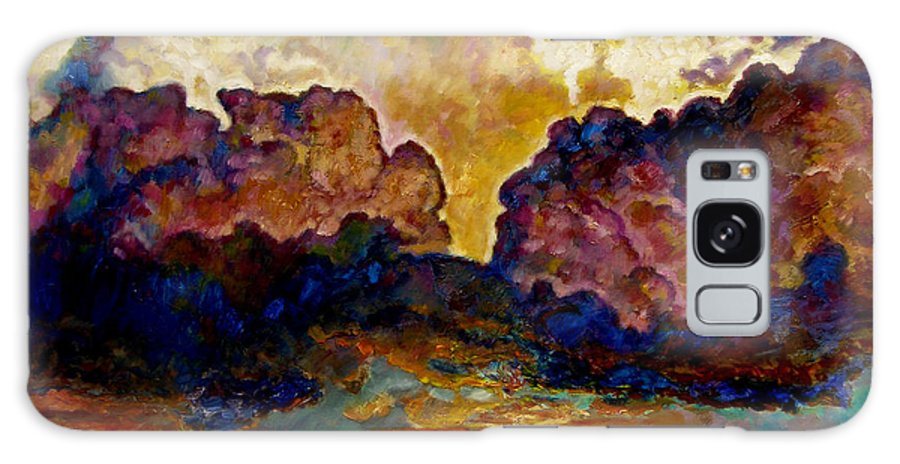 Sunset Galaxy S8 Case featuring the painting Evening Clouds Over The Valley by John Lautermilch
