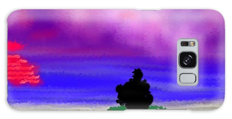 Sunset Galaxy S8 Case featuring the digital art Evening Contemplation by Dr Loifer Vladimir