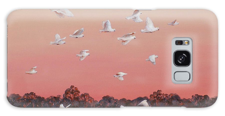 Birds Galaxy S8 Case featuring the painting Evening Flight by Ekaterina Mortensen