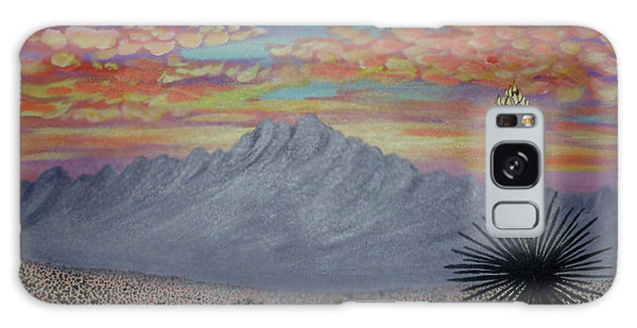 Desertscape Galaxy Case featuring the painting Evening In The Desert by Marco Morales