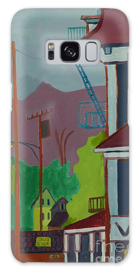 Town Galaxy S8 Case featuring the painting Evening In Town Chelmsford Ma by Debra Bretton Robinson
