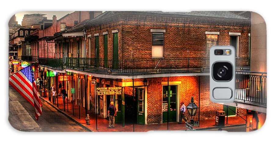 New Orleans Galaxy Case featuring the photograph Evening On Bourbon by Greg and Chrystal Mimbs