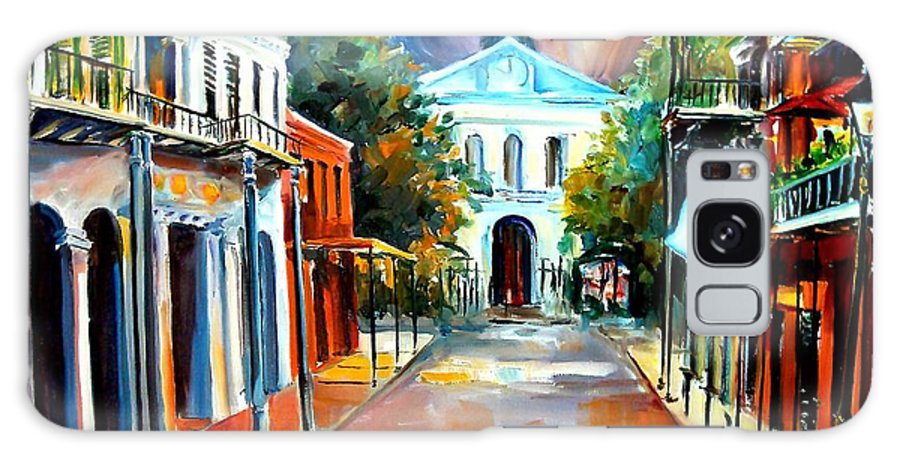 New Orleans Galaxy S8 Case featuring the painting Evening On Orleans Street by Diane Millsap