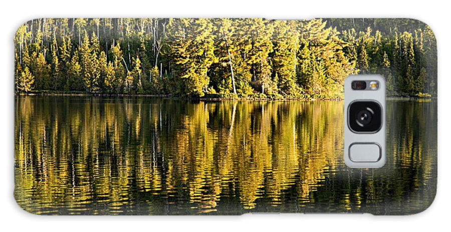 Boundary Waters Canoe Area Wilderness Galaxy S8 Case featuring the photograph Evening Reflections On Alder Lake by Larry Ricker