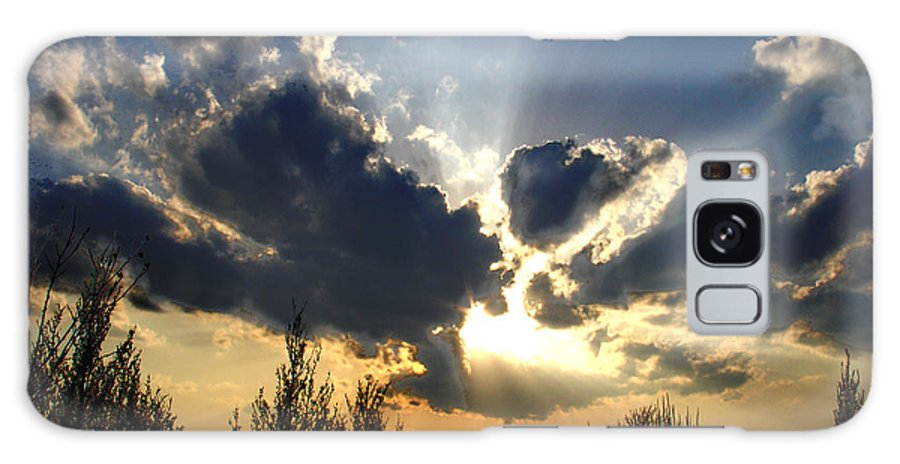 Landscape Galaxy Case featuring the photograph Evening Sky by Steve Karol