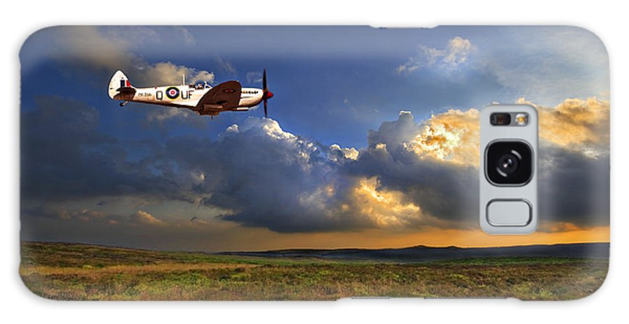Spitfire Galaxy Case featuring the photograph Evening Spitfire by Meirion Matthias
