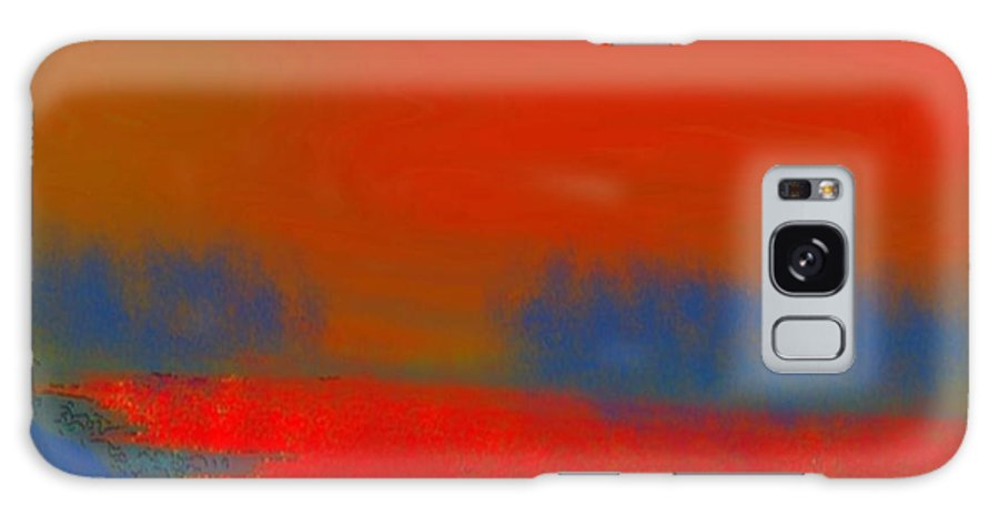 Sunset Galaxy Case featuring the digital art Evening Way To Dead Sea.fire Sunset by Dr Loifer Vladimir