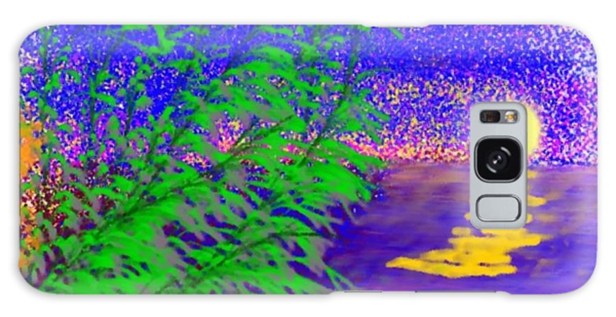 Evening Galaxy Case featuring the digital art Evening Wind by Dr Loifer Vladimir