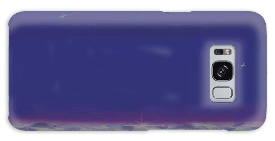 Late Evening.violet Dark Sky.rest.little Stars.last Ray Of Sun.sea.waves.silence. Birds.quiet. Galaxy S8 Case featuring the digital art Evening.birds by Dr Loifer Vladimir