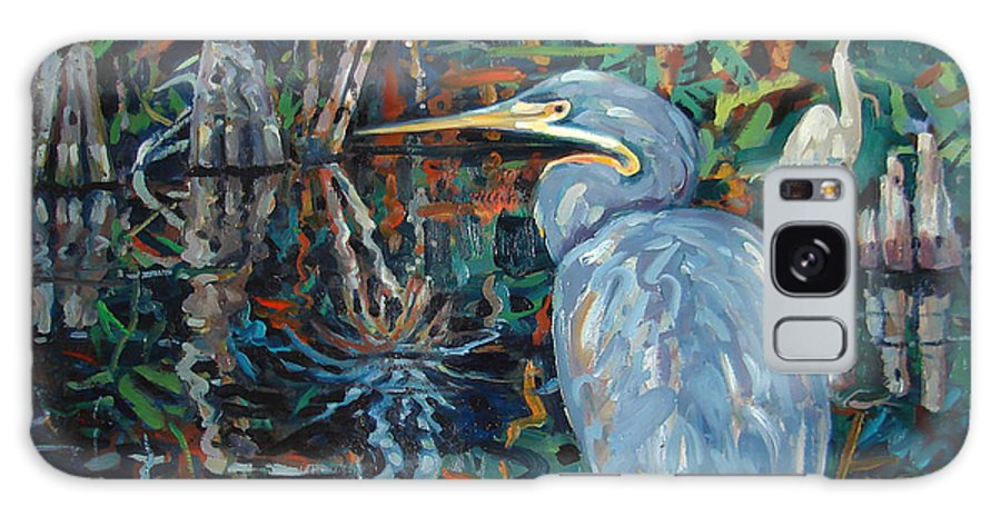 Blue Herron Galaxy S8 Case featuring the painting Everglades by Donald Maier