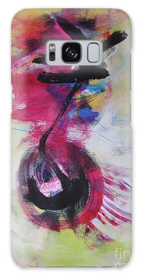 Abstract Paintings Red Paintings Galaxy S8 Case featuring the painting Everything A Mistake-abstract Red Painting by Seon-Jeong Kim